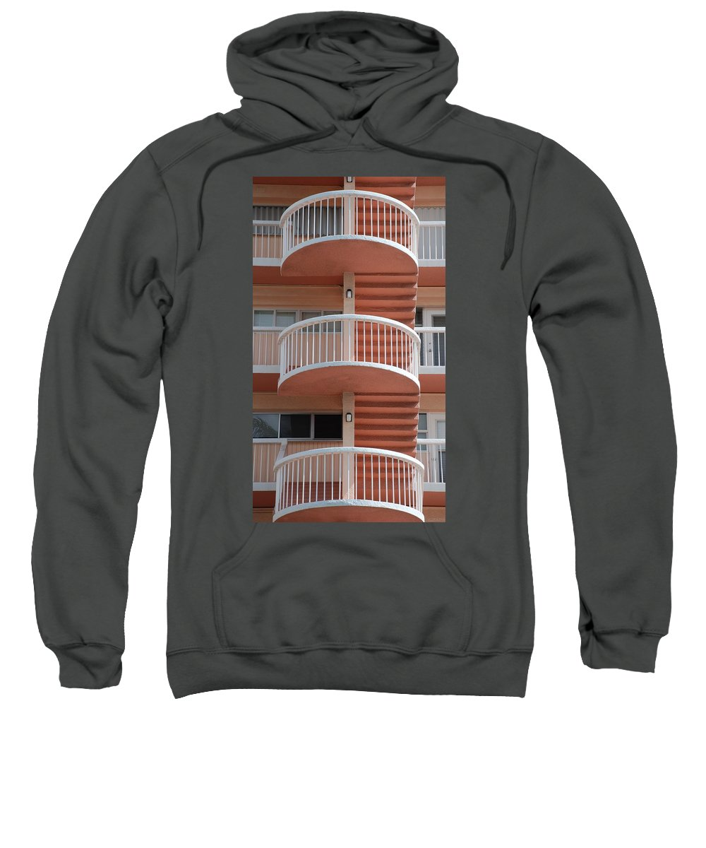 Architecture Sweatshirt featuring the photograph 3 Rails by Rob Hans