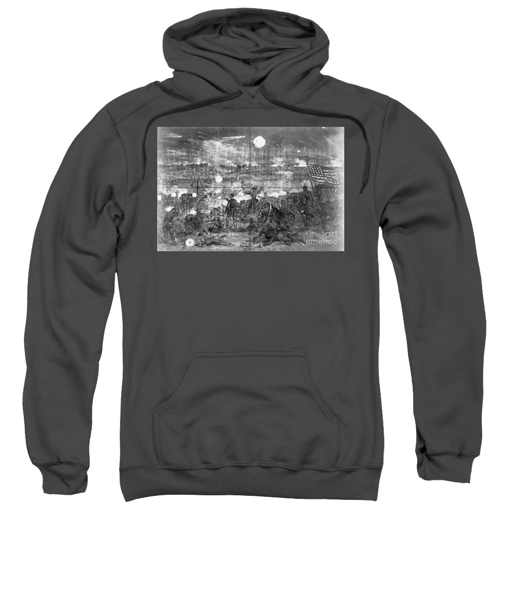 1863 Sweatshirt featuring the photograph Civil War: Gettysburg by Granger