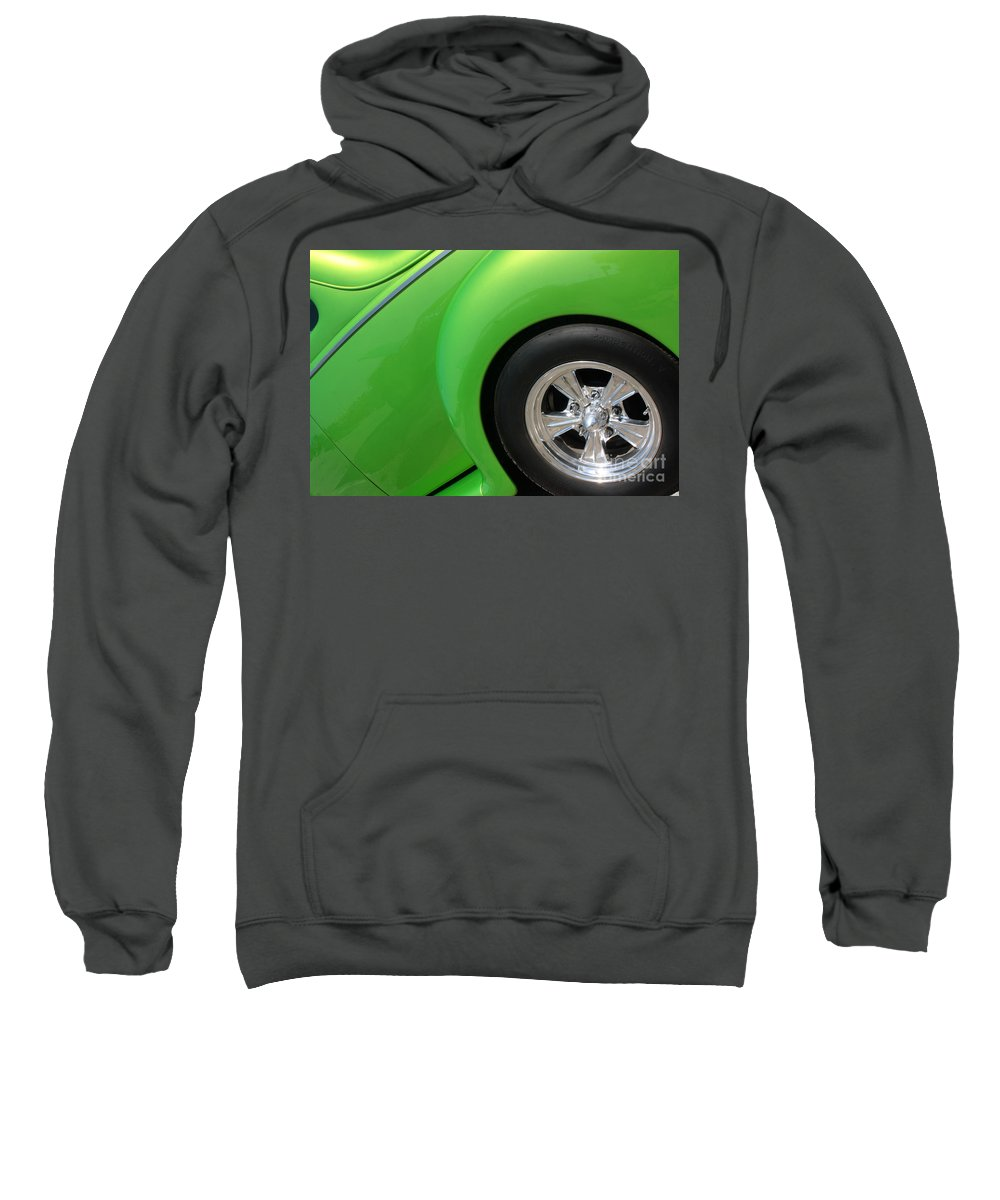 1940 Sweatshirt featuring the photograph 40 Ford-driver Rear Wheel-8581 by Gary Gingrich Galleries