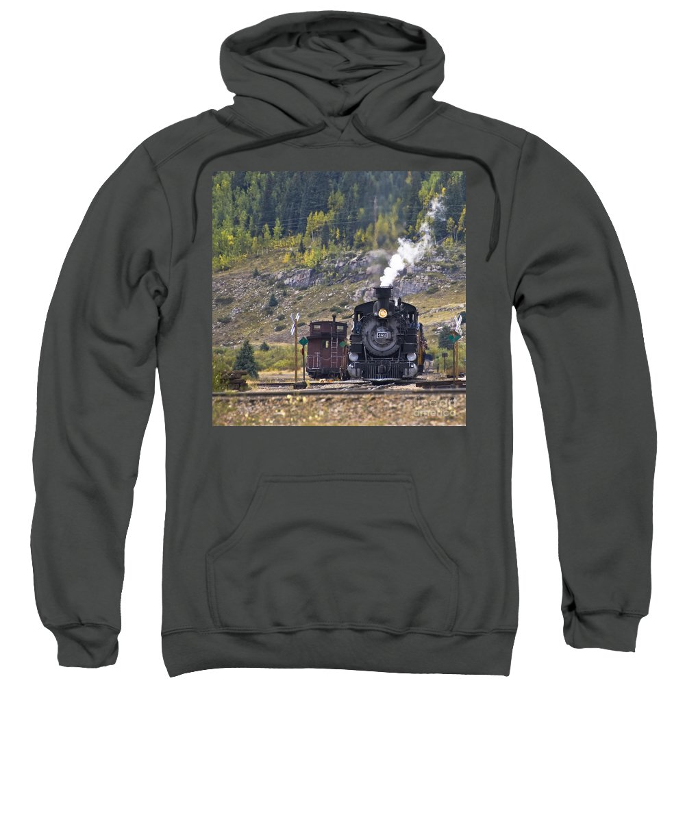 Drgw Sweatshirt featuring the photograph 482 In Silverton by Tim Mulina