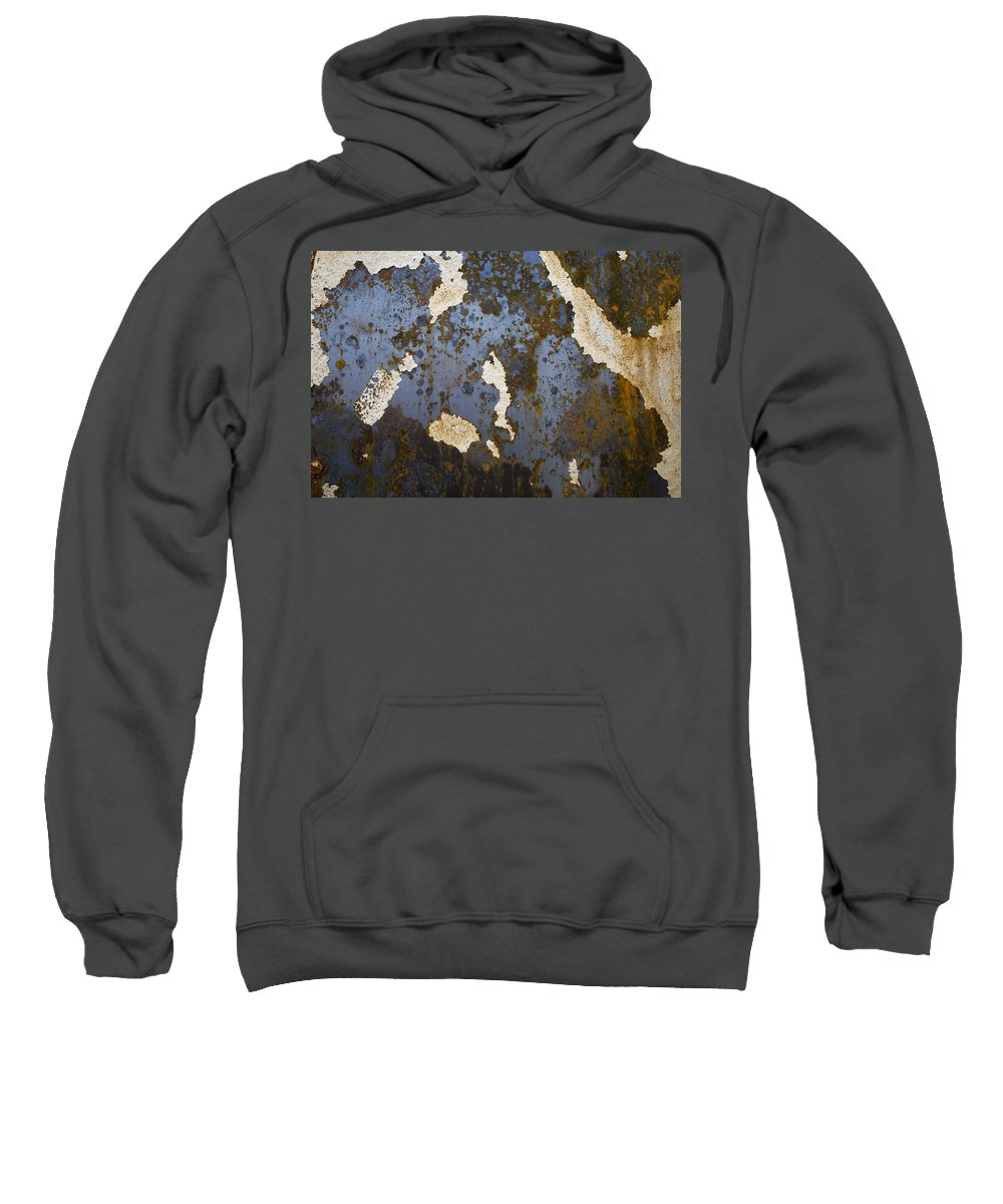 Background Sweatshirt featuring the photograph Detail Of Burnt Building by David Chapman