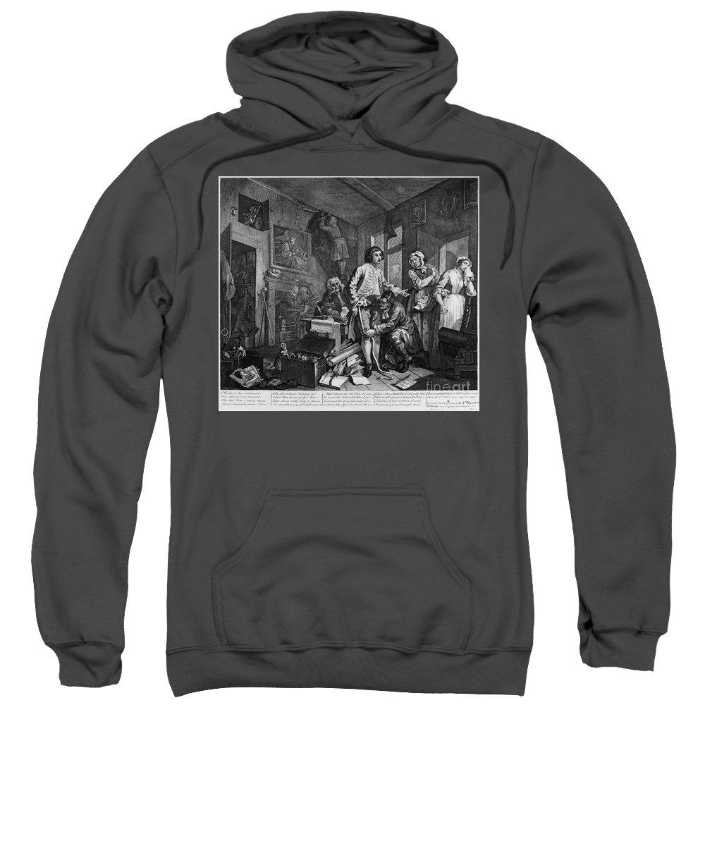 1735 Sweatshirt featuring the photograph Hogarth: Rakes Progress by Granger