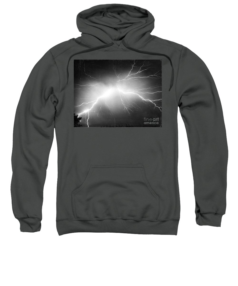 Science Sweatshirt featuring the photograph Lightning by Science Source