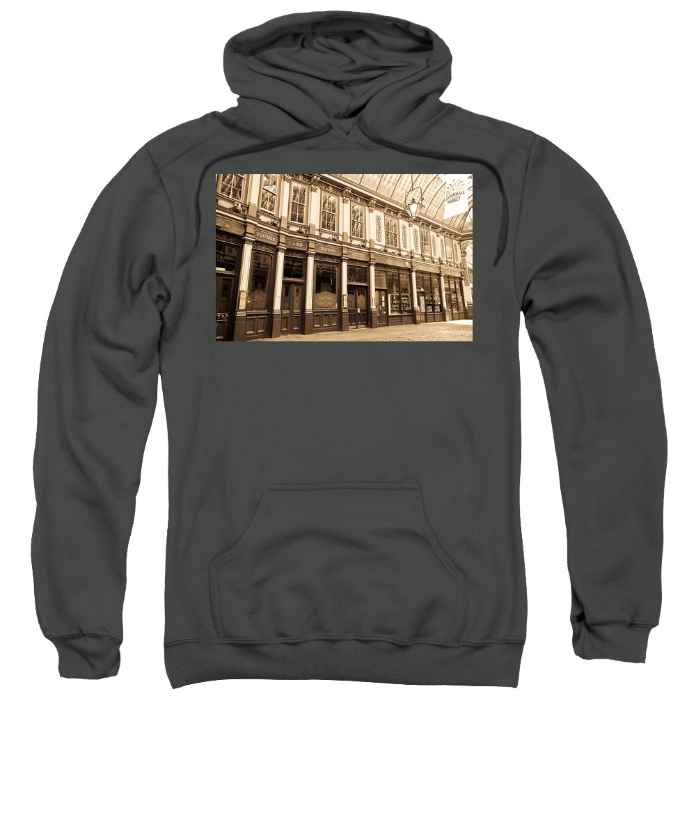 Leadenhall Sweatshirt featuring the photograph Leadenhall Market London by David Pyatt