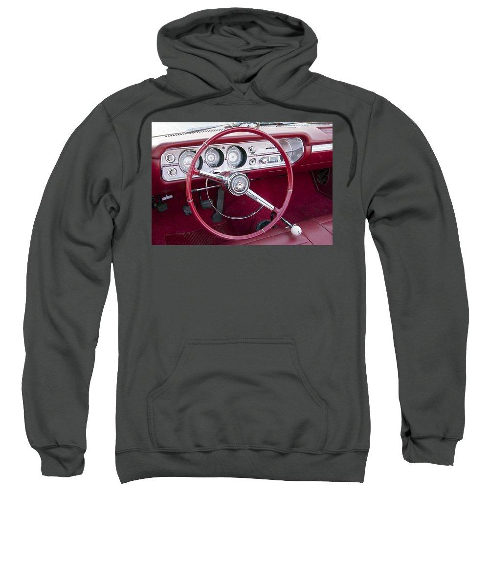 Chevrolet Sweatshirt featuring the photograph 55 Chevy Ss Dash by Glenn Gordon