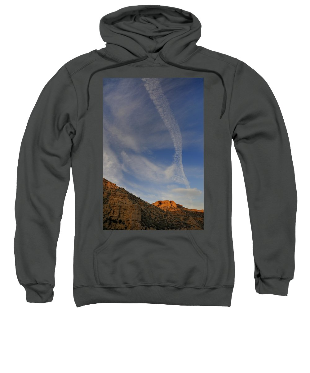 Outdoors Sweatshirt featuring the photograph Bad Lands by Guido Montanes Castillo