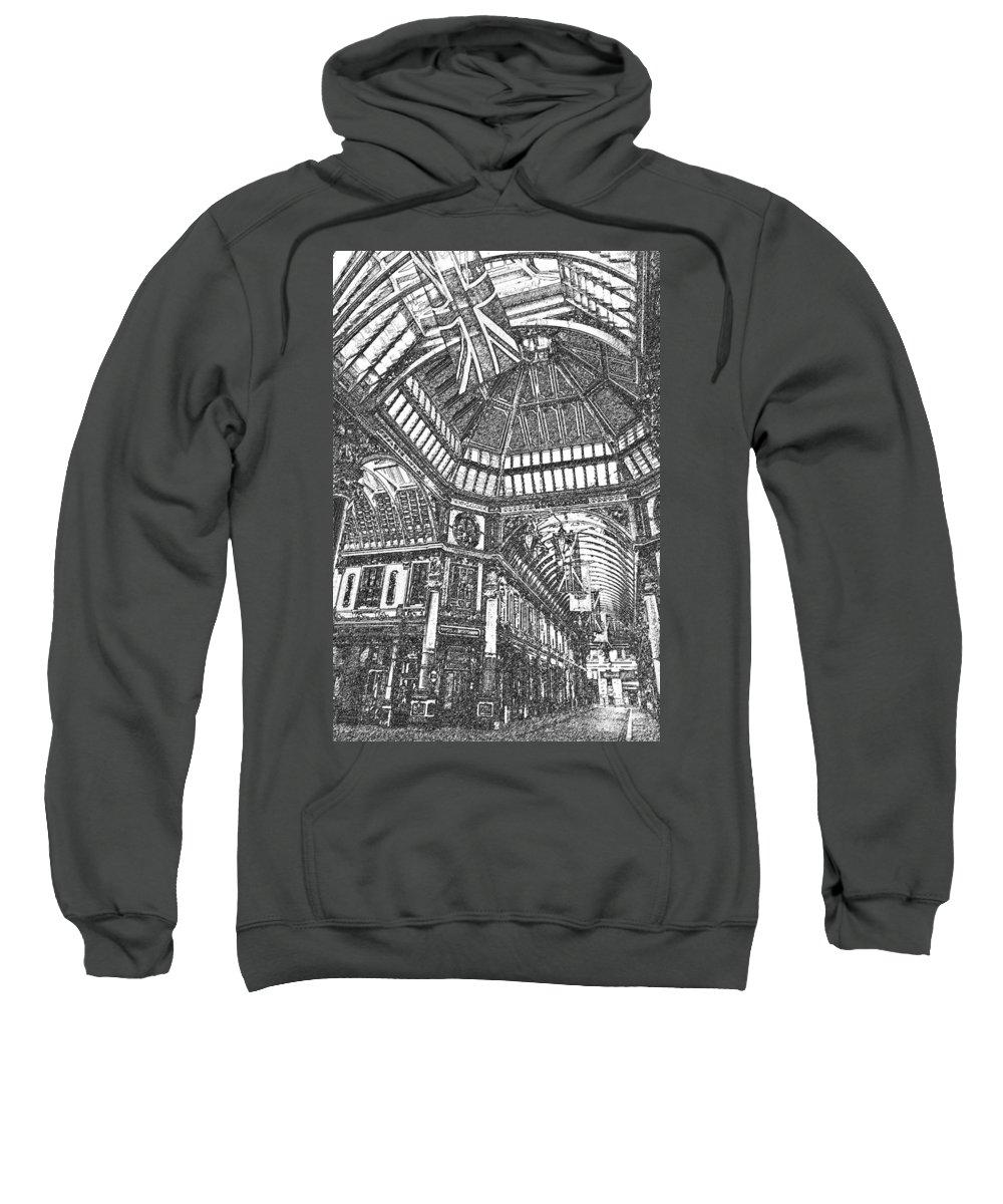 Leadenhall Sweatshirt featuring the digital art Leadenhall Market London by David Pyatt