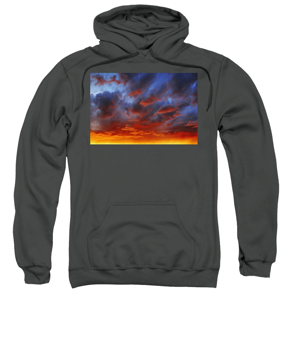 Beauty In Nature Sweatshirt featuring the photograph A Cloudy Sunset by Don Hammond