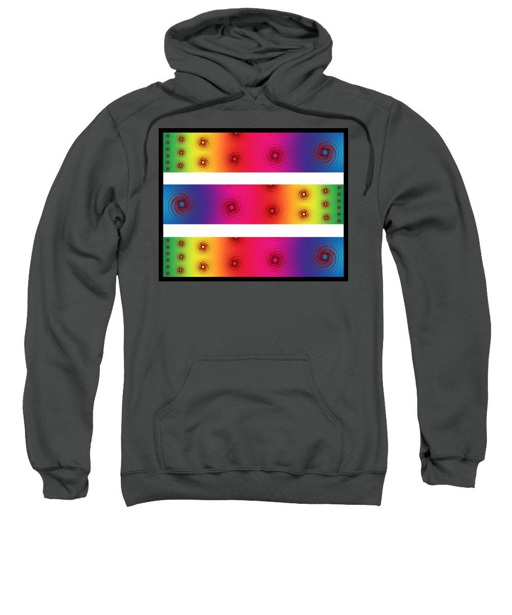 Color Sweatshirt featuring the digital art A Fractal Spectrum by Betsy Knapp