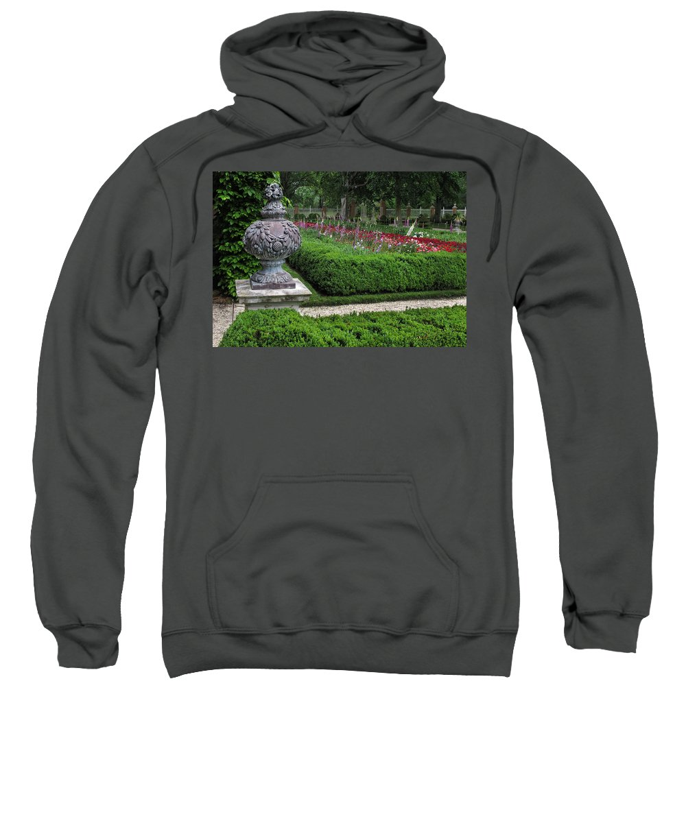 Garden Sweatshirt featuring the photograph A Garden View by Dave Mills