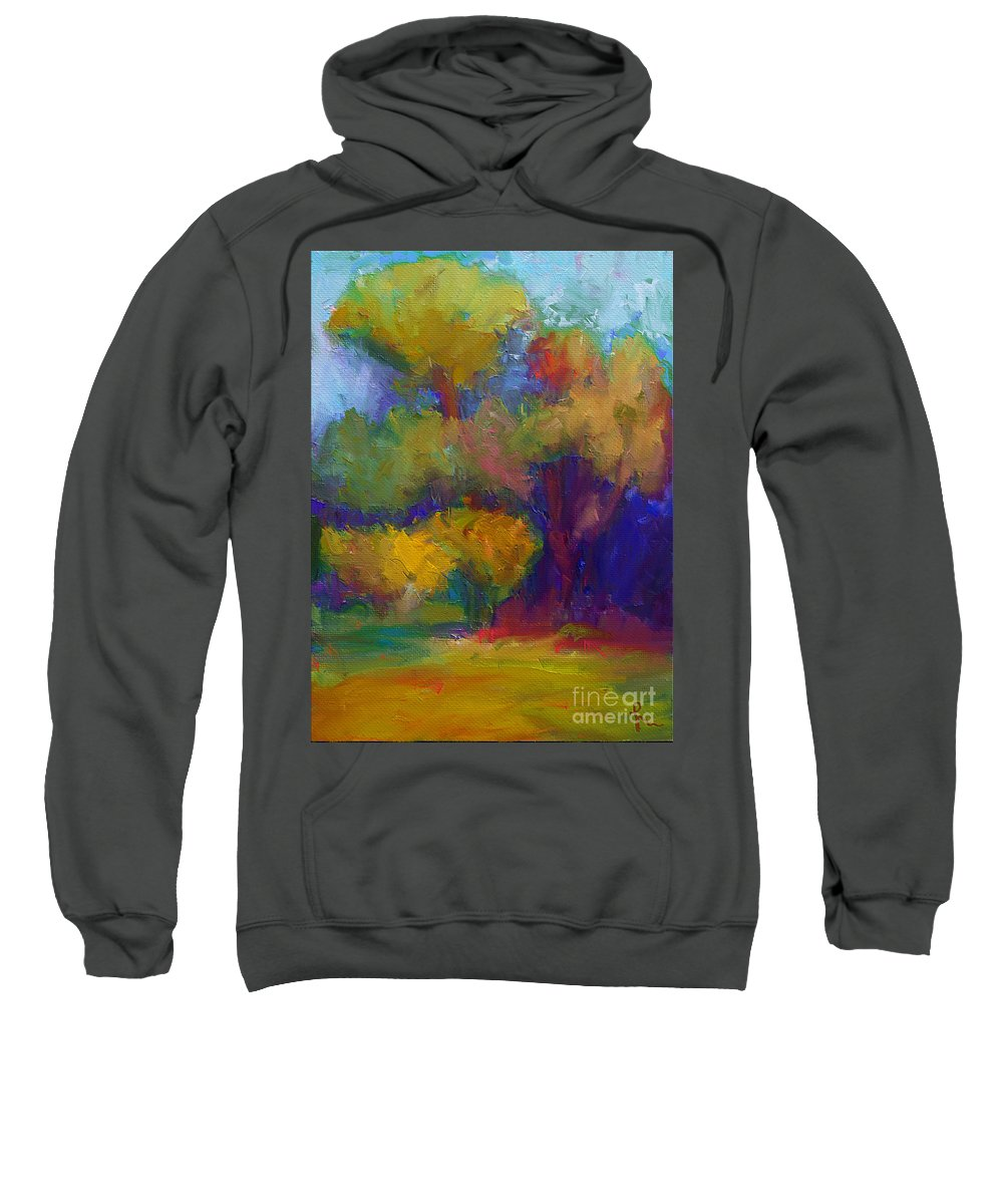 Mediterraneo Sweatshirt featuring the painting A Mediterranian Morning by Dragica Micki Fortuna