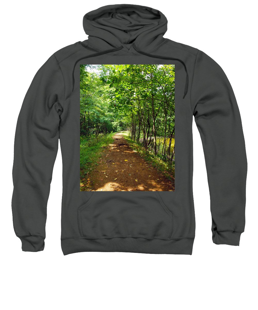 Farm Animals Sweatshirt featuring the photograph A Path Around The Pond by Robert Margetts