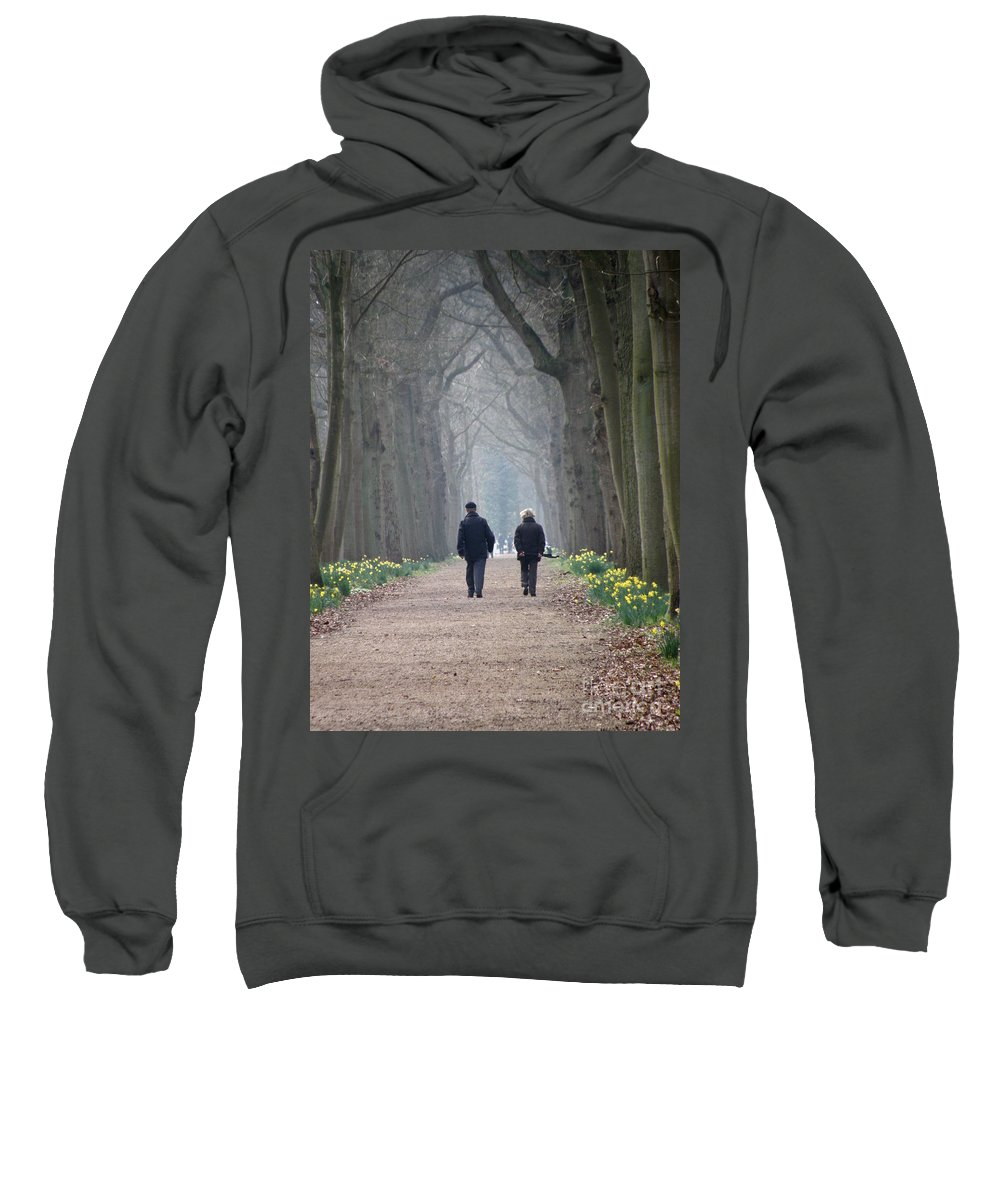 Forest Sweatshirt featuring the photograph A Peaceful Stroll by Lainie Wrightson