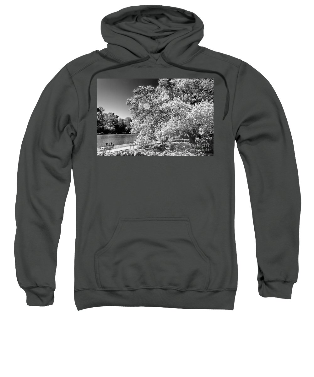 River Sweatshirt featuring the photograph A Seat By The Water by Ken Frischkorn