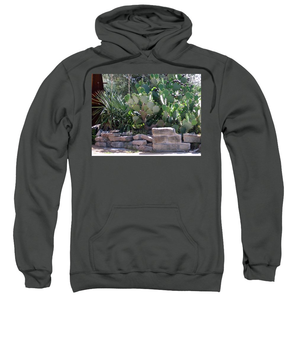 Sweatshirt featuring the photograph A Southwestern Patio by Amy Hosp