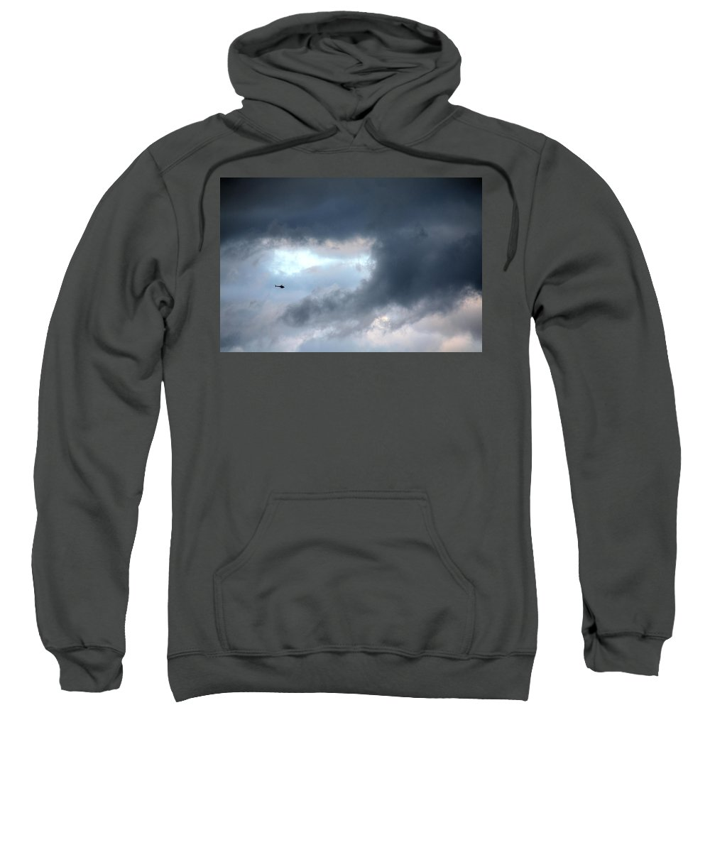 Light Sweatshirt featuring the photograph A Speck In The Sky by Terry Wallace