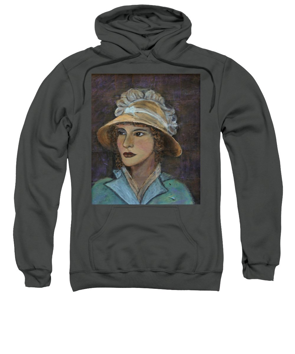 Lady In Hat Series Sweatshirt featuring the painting Abigail by The Art With A Heart By Charlotte Phillips