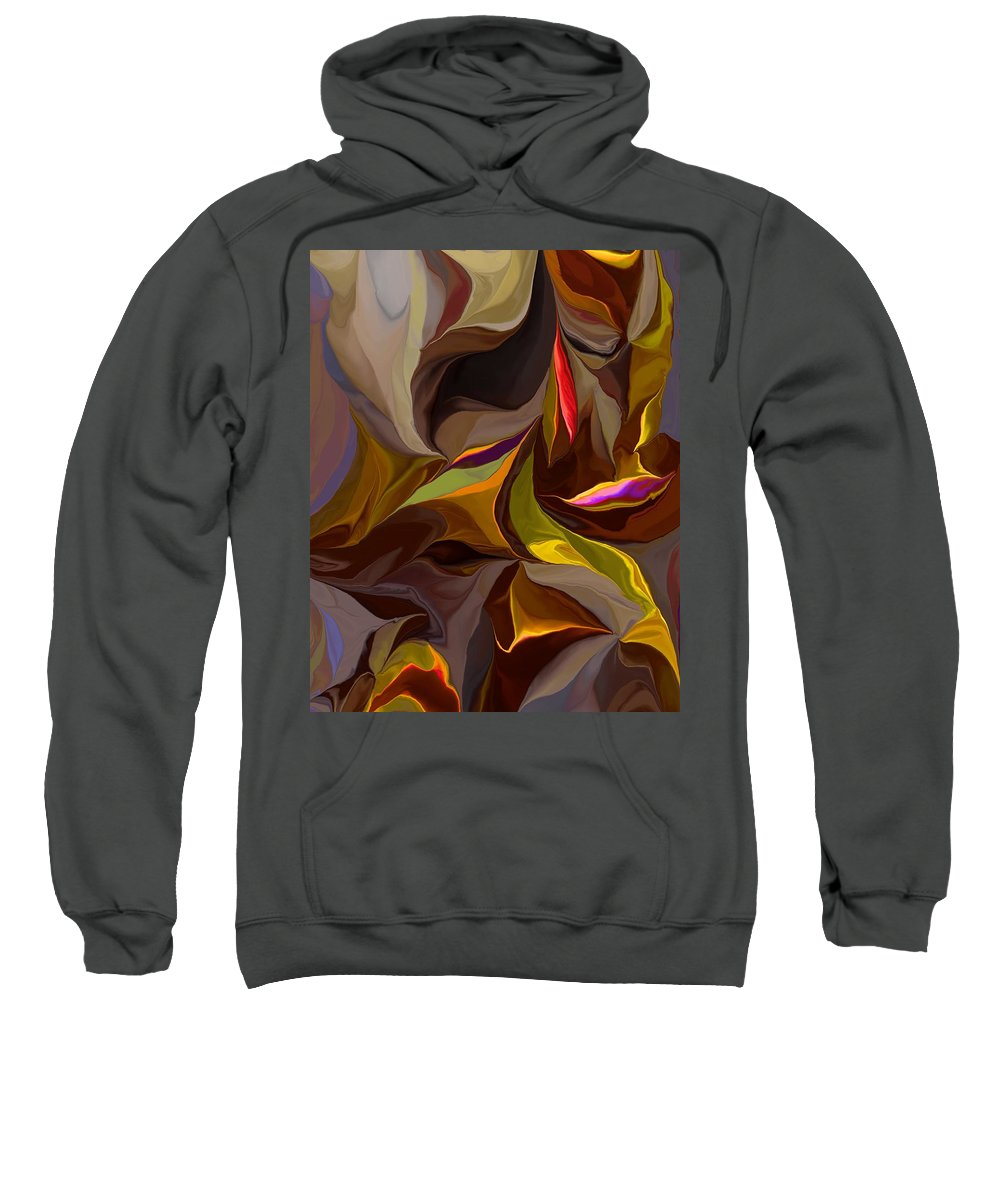 Fine Art Sweatshirt featuring the digital art Abstract 022212 by David Lane