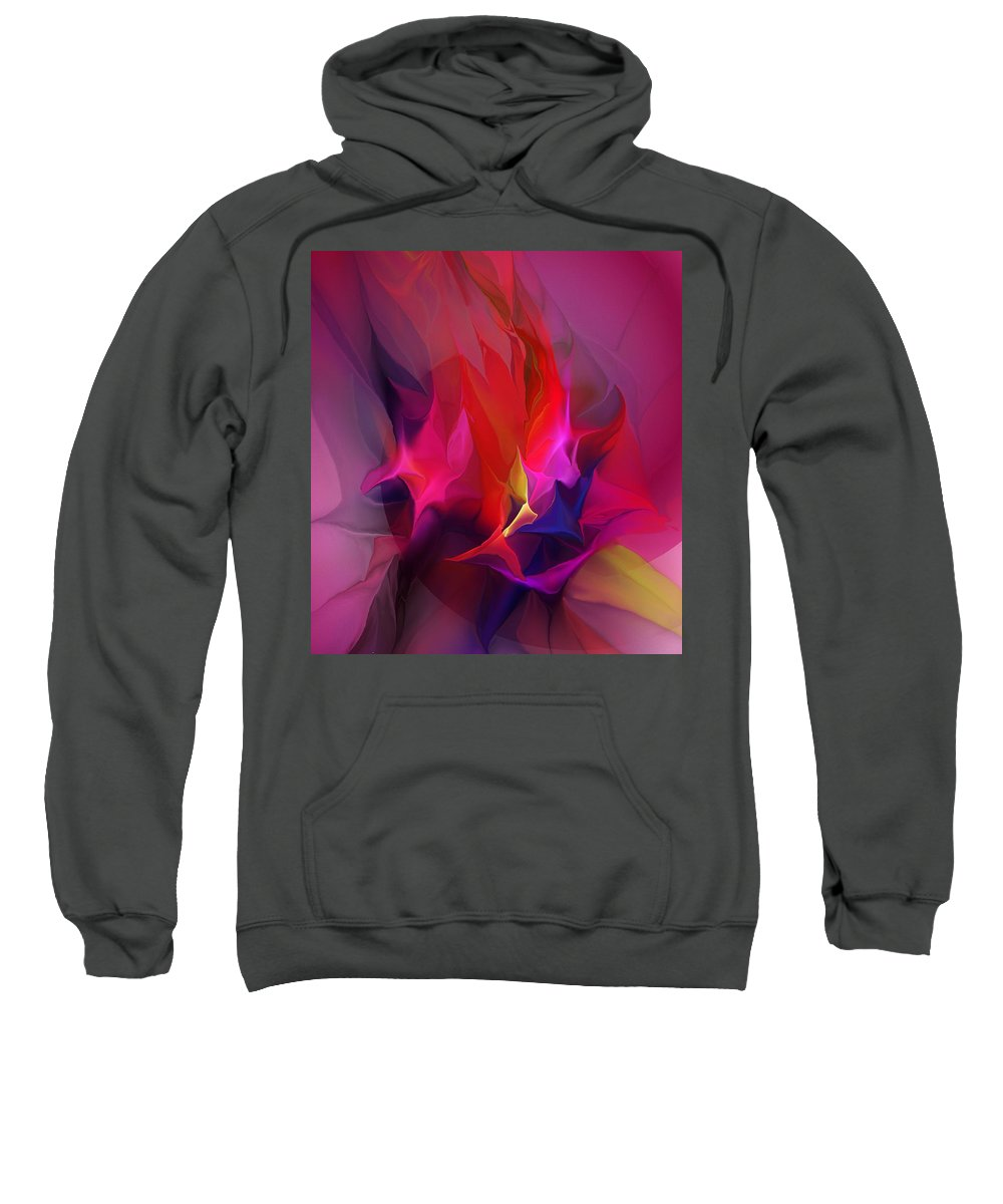 Fine Art Sweatshirt featuring the digital art Abstract 031412 by David Lane