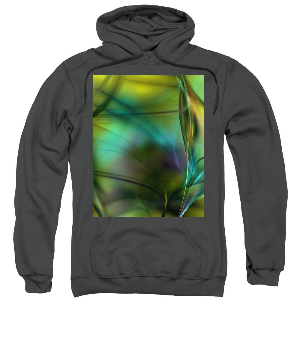 Fine Art Sweatshirt featuring the digital art Abstract 090711a by David Lane