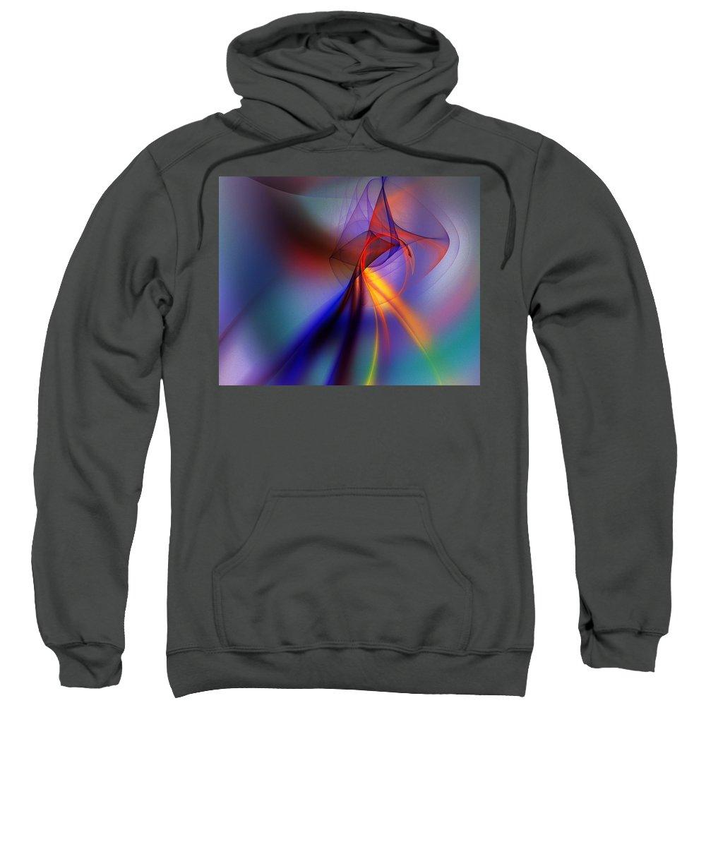 Fine Art Sweatshirt featuring the digital art Abstract 101211 by David Lane