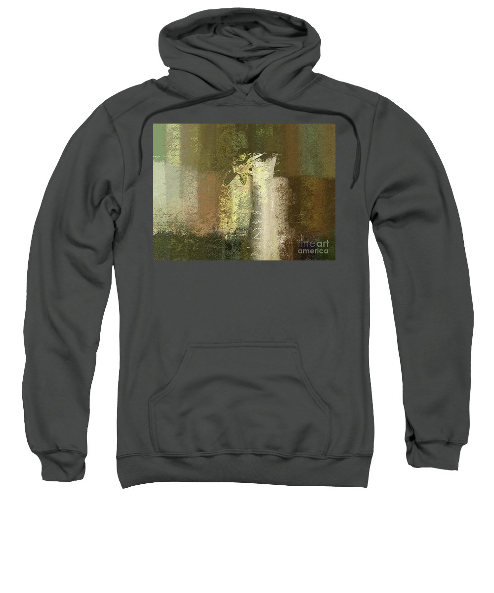 Abstract Sweatshirt featuring the digital art Abstract Floral 04v2g by Variance Collections