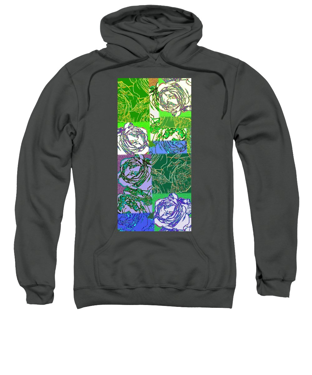 Abstract Fusion Sweatshirt featuring the digital art Abstract Fusion 42 by Will Borden