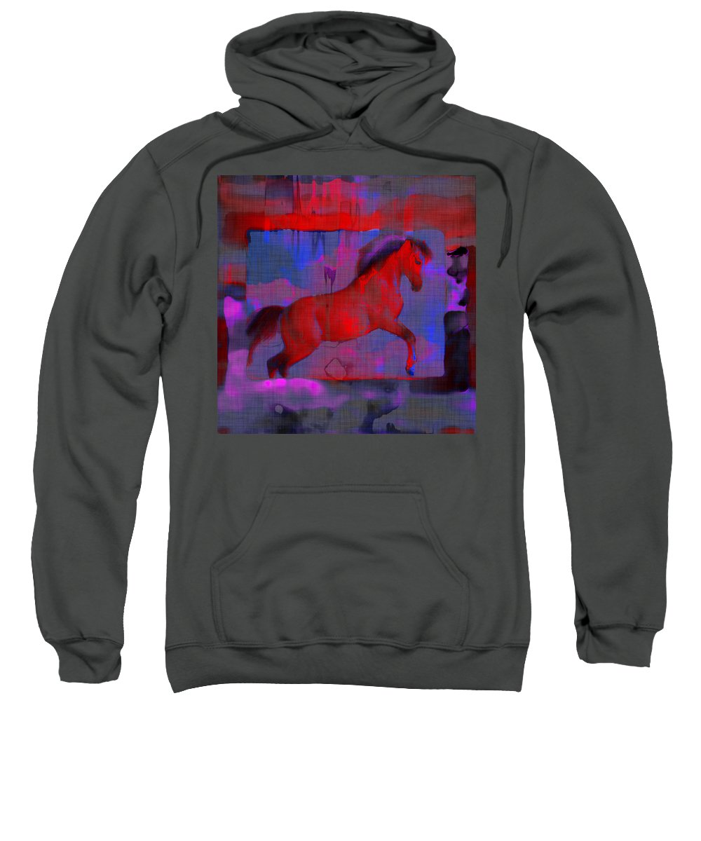 Horse Sweatshirt featuring the photograph Abstract Horse by David G Paul