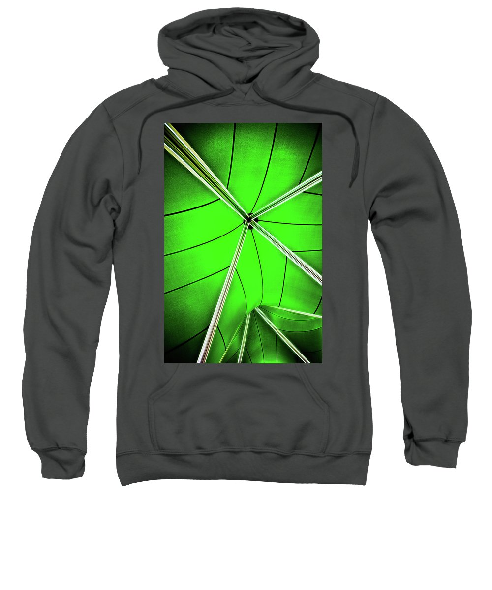 Green Sweatshirt featuring the photograph Abstract Of Green by Meirion Matthias