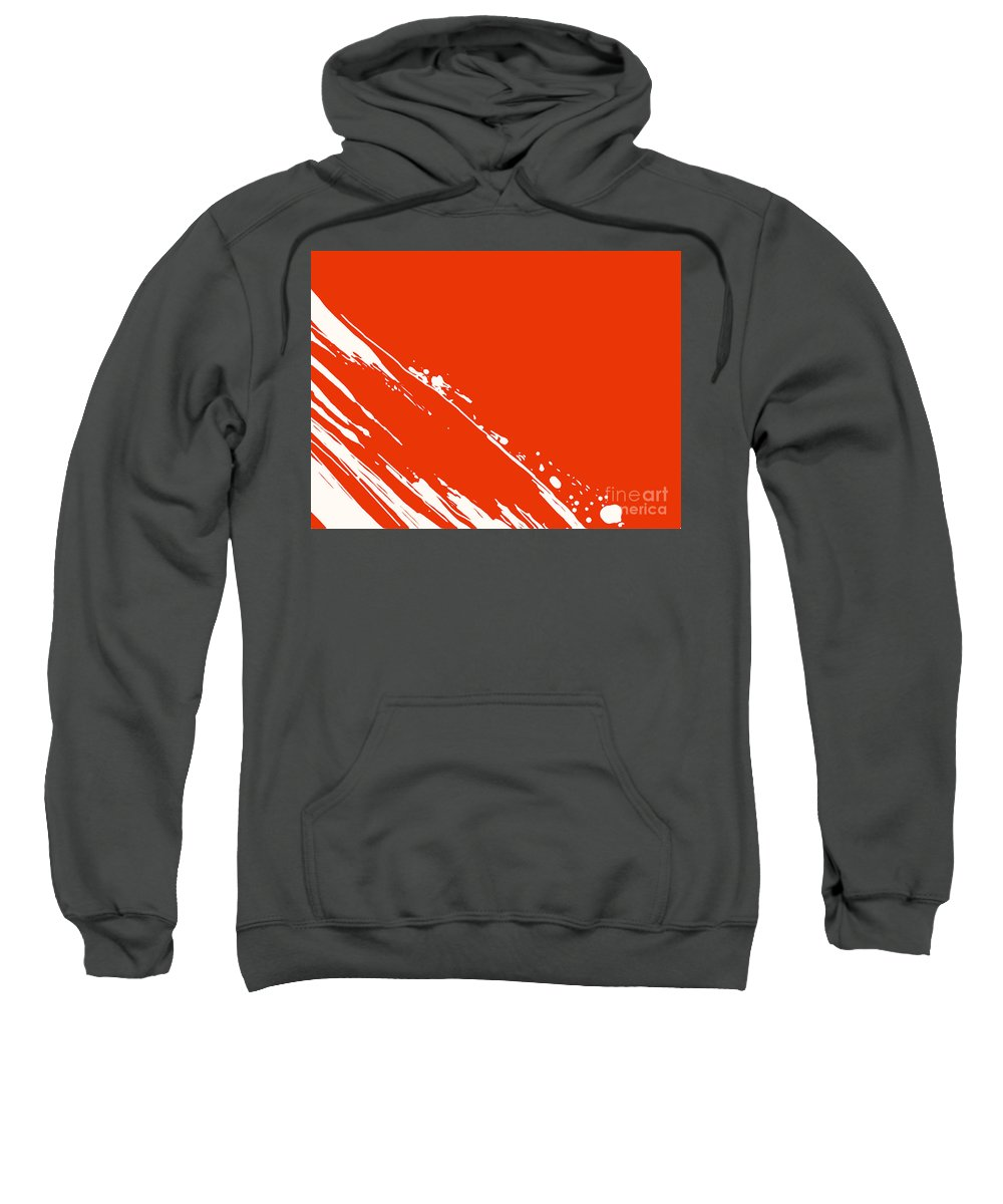 Abstract Art Sweatshirt featuring the painting Abstract Swipe by Pixel Chimp