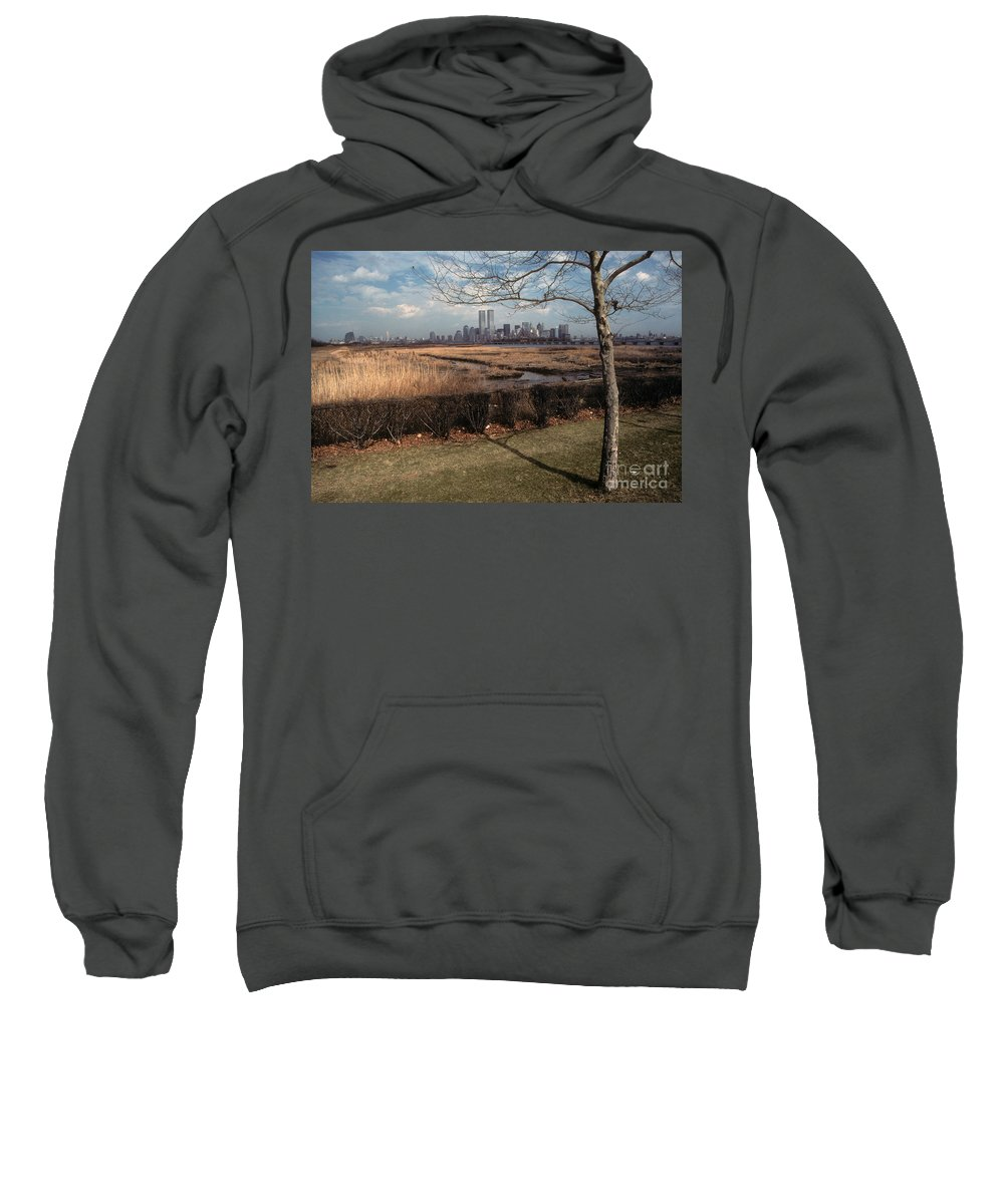 Wtc Sweatshirt featuring the photograph Across The River by Mark Gilman