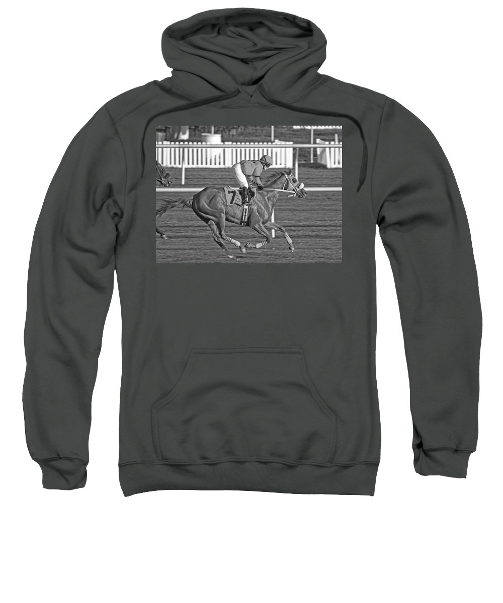 Horse Sweatshirt featuring the photograph After The Crossing by Betsy Knapp