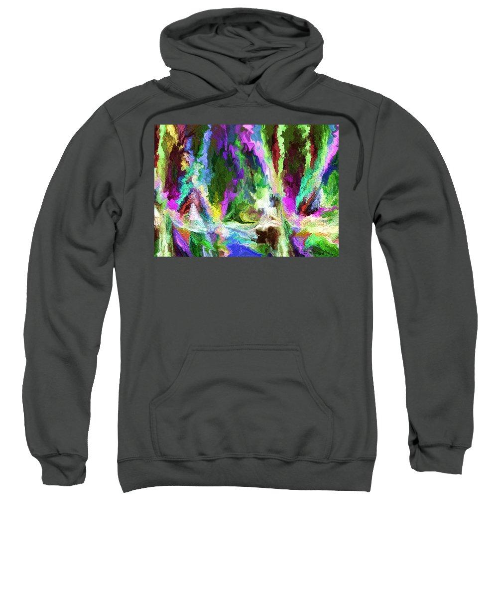 Fine Art Sweatshirt featuring the digital art Alien Garden 082012 by David Lane