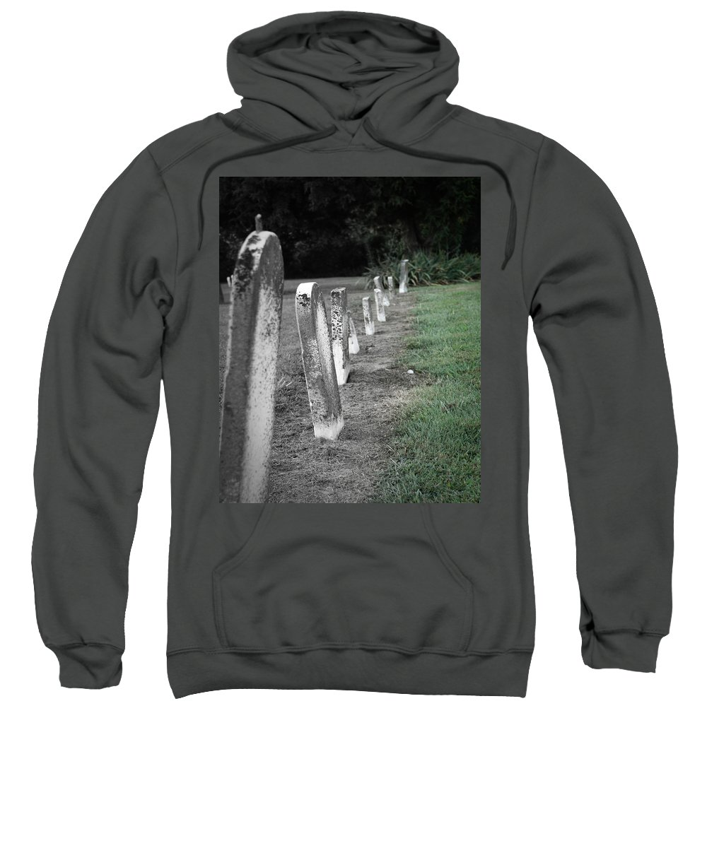 Graveyard Sweatshirt featuring the photograph All Lined Up by April Davis