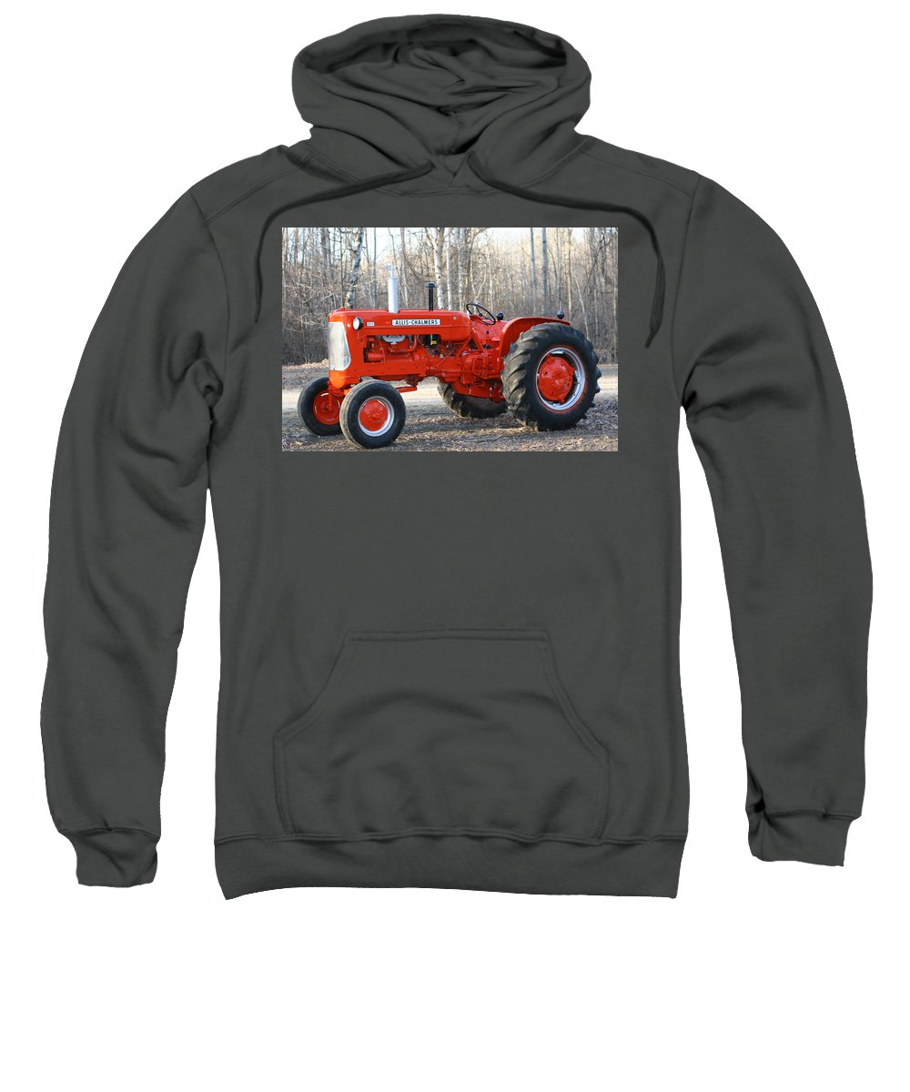 Allis Chalmers Sweatshirt featuring the photograph Allis Chalmers Angled by Stephanie Kripa