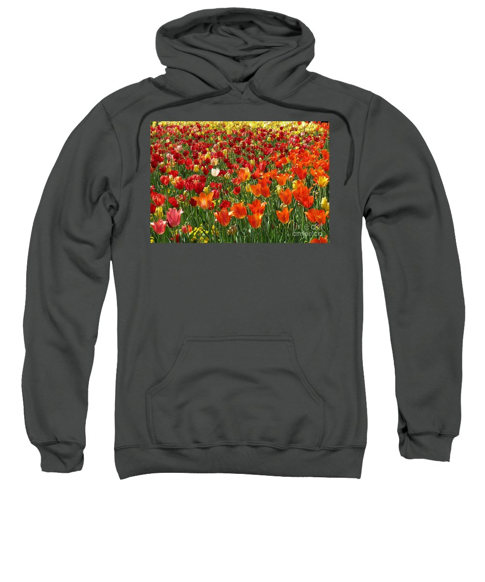 Flower Sweatshirt featuring the photograph Alone In A Crowd by Ashley M Conger