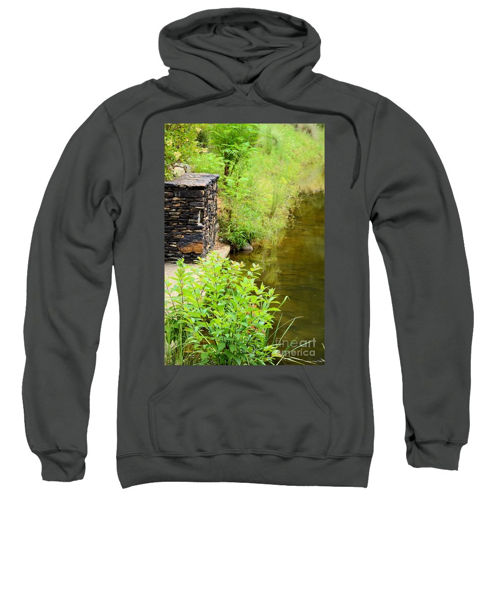 Along Sweatshirt featuring the photograph Along The Shallow Water by Maria Urso