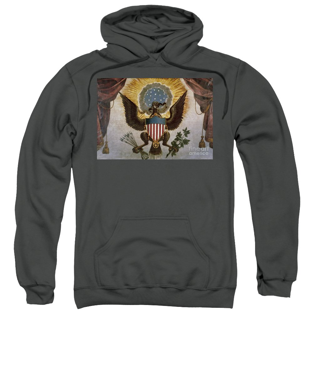 18th Century Sweatshirt featuring the painting America - Great Seal by Granger