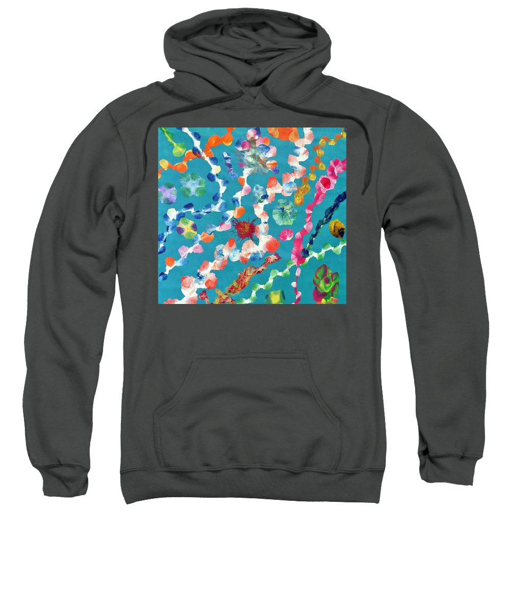 Ocean Sweatshirt featuring the painting Amindra by Sumit Mehndiratta