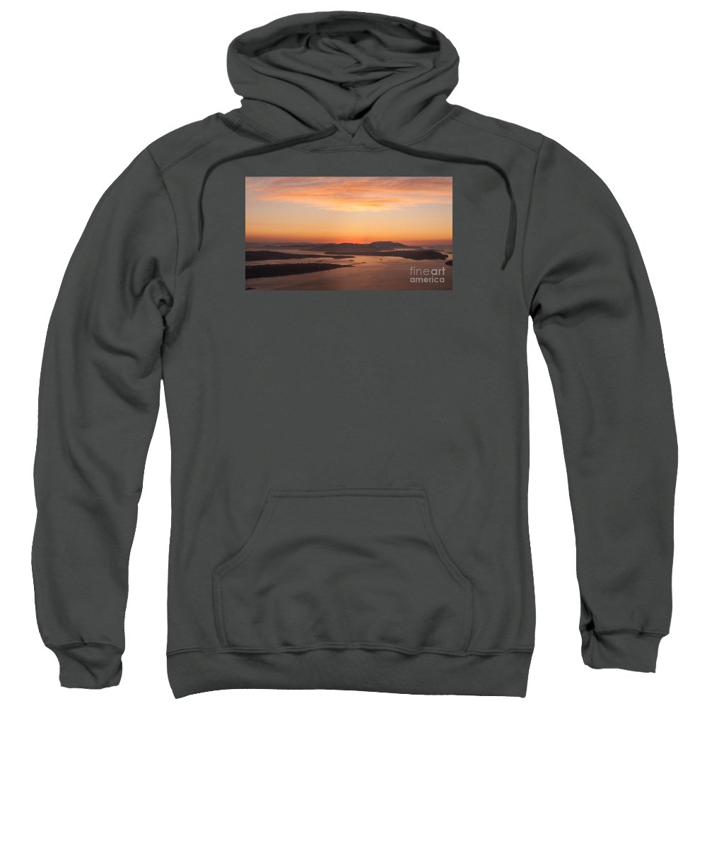 San Juan Islands Sweatshirt featuring the photograph Anacortes Islands Sunset by Mike Reid