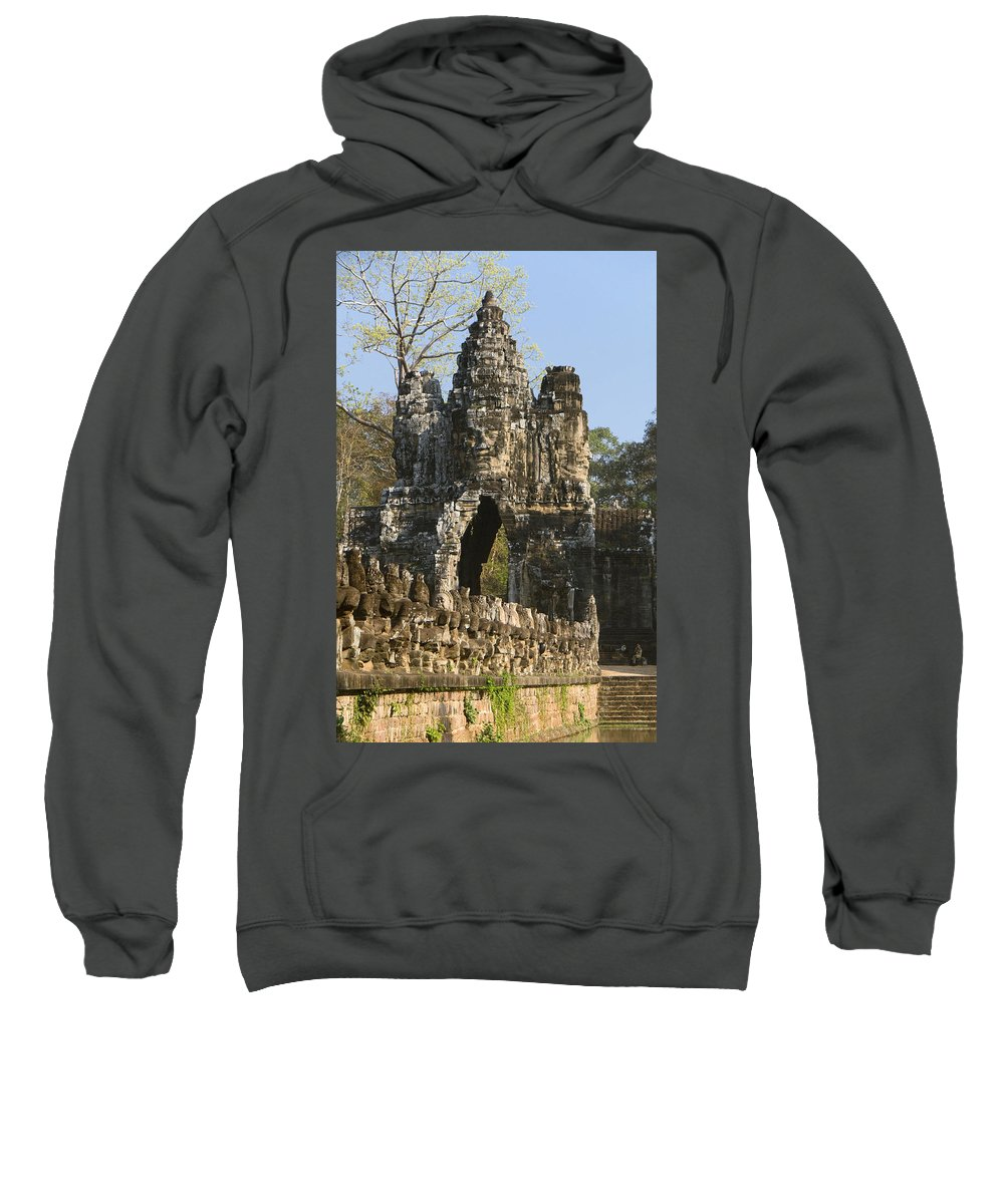 Ancient Sweatshirt featuring the photograph Angkor Archaeological Park II by Gloria & Richard Maschmeyer