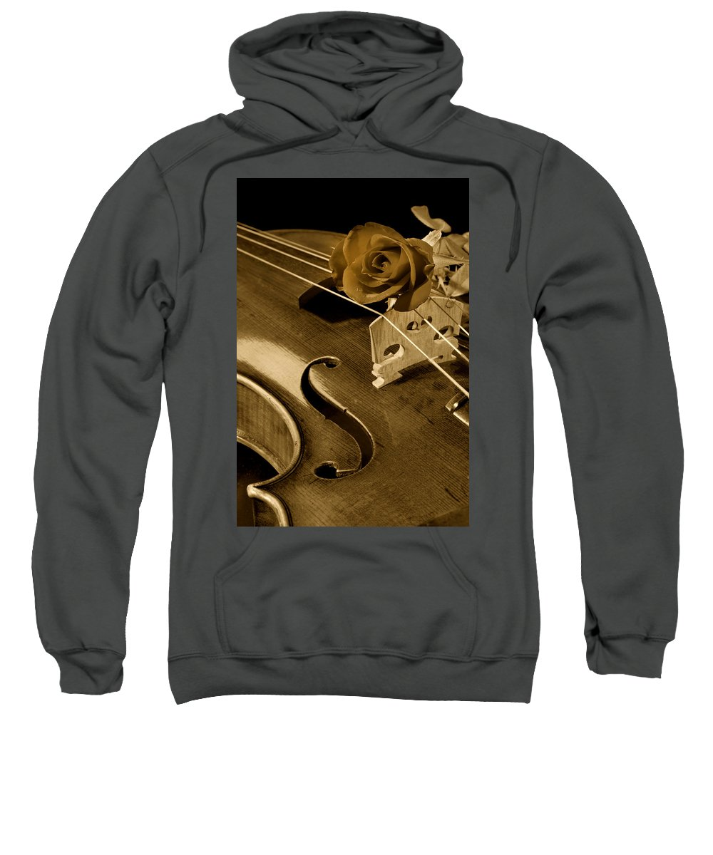 Violin Sweatshirt featuring the photograph Antique Violin Viola by M K Miller