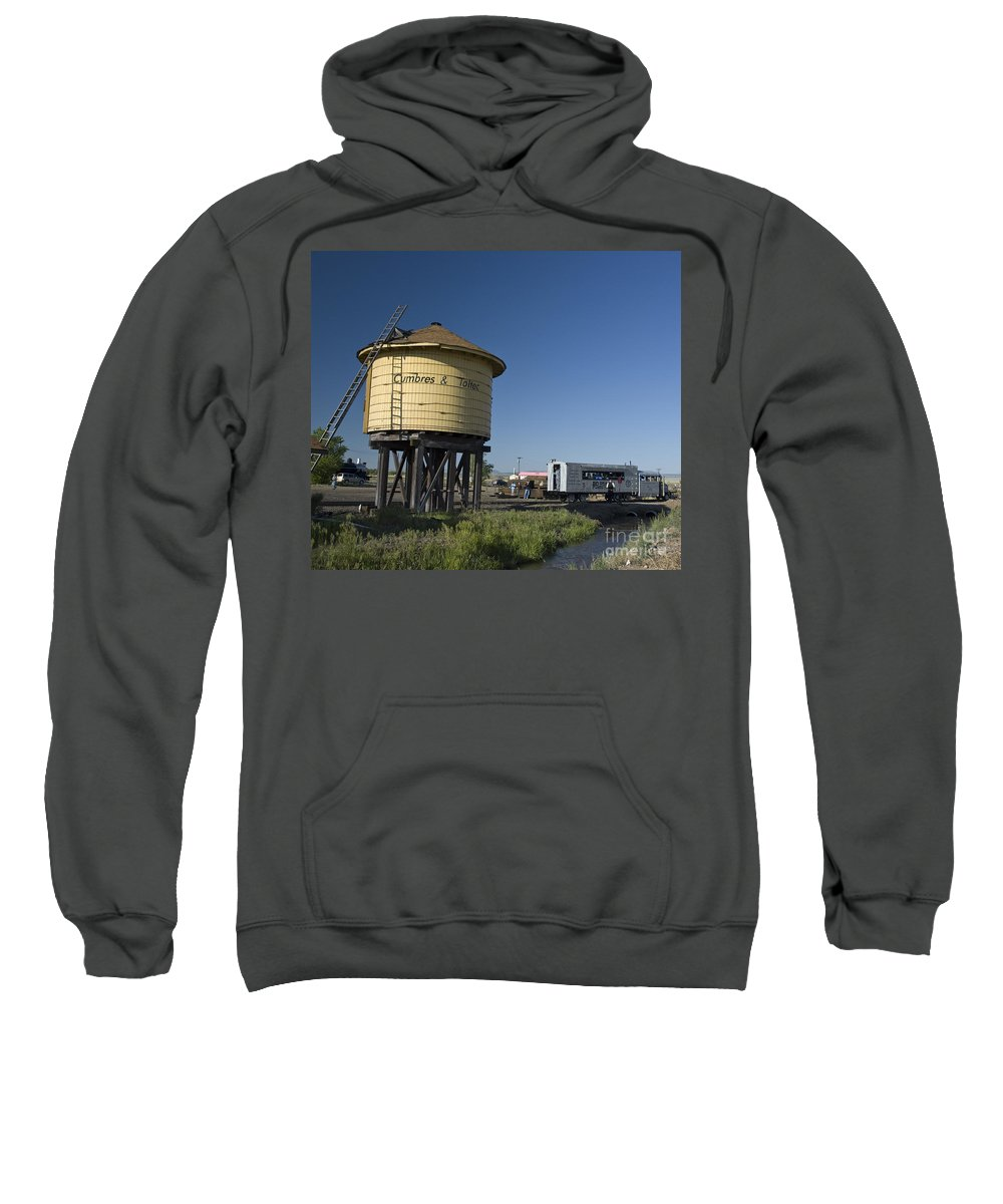 Cumbres & Toltec Sweatshirt featuring the photograph Antonito Goose by Tim Mulina