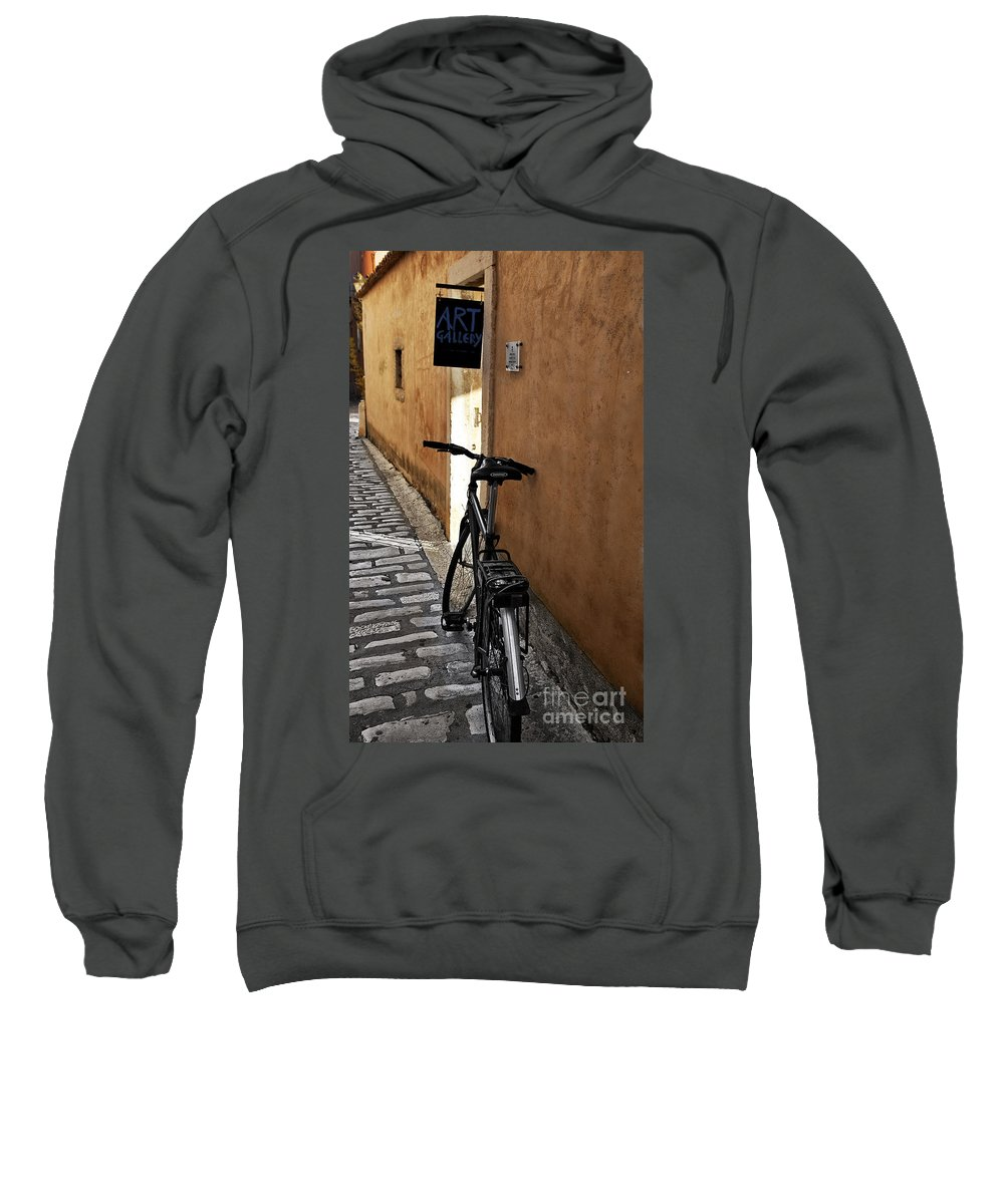Art Gallery Sweatshirt featuring the photograph Art Gallery Rest by Madeline Ellis