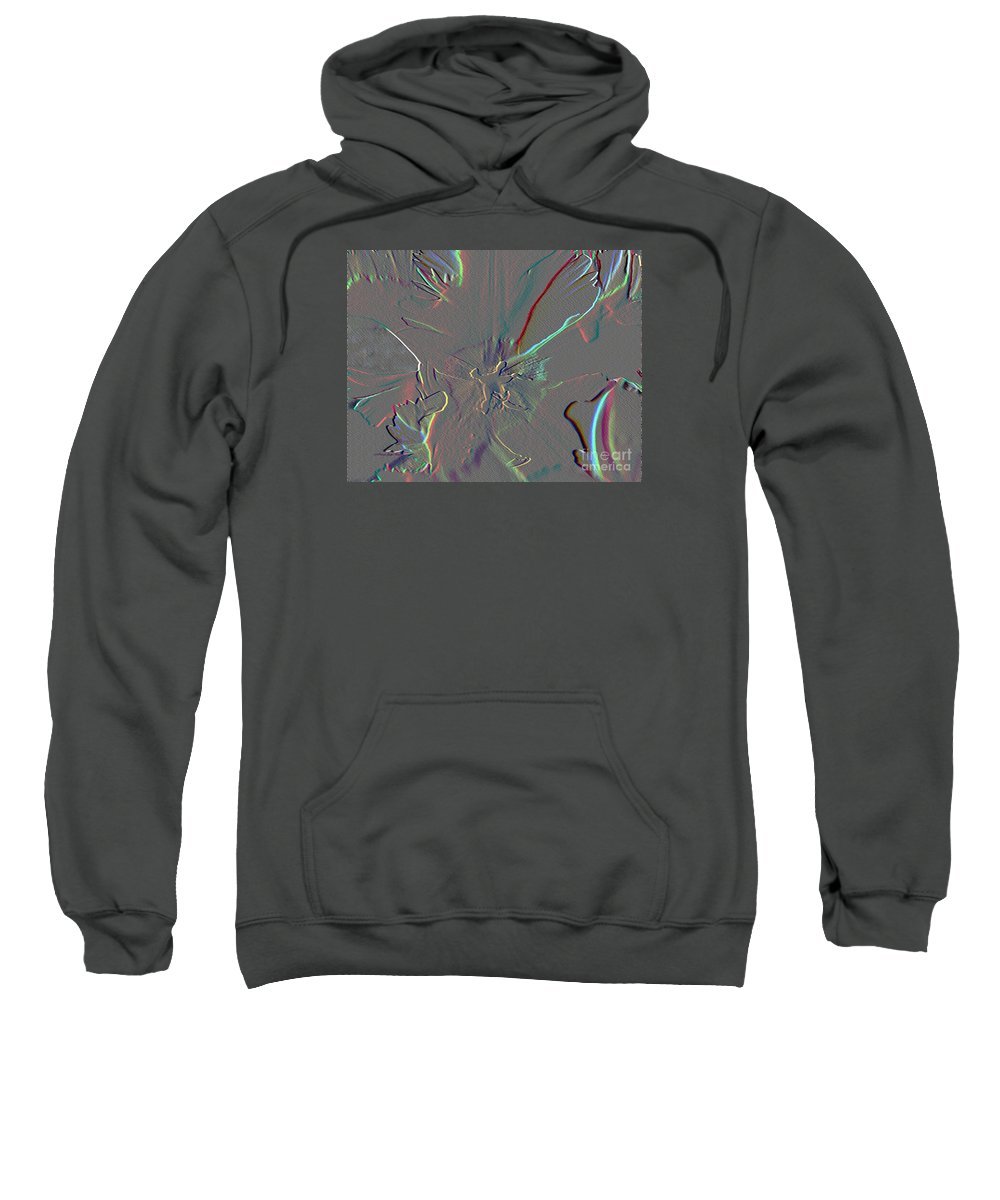 Mixed Media Sweatshirt featuring the mixed media At The Center Of It All by Patricia Griffin Brett