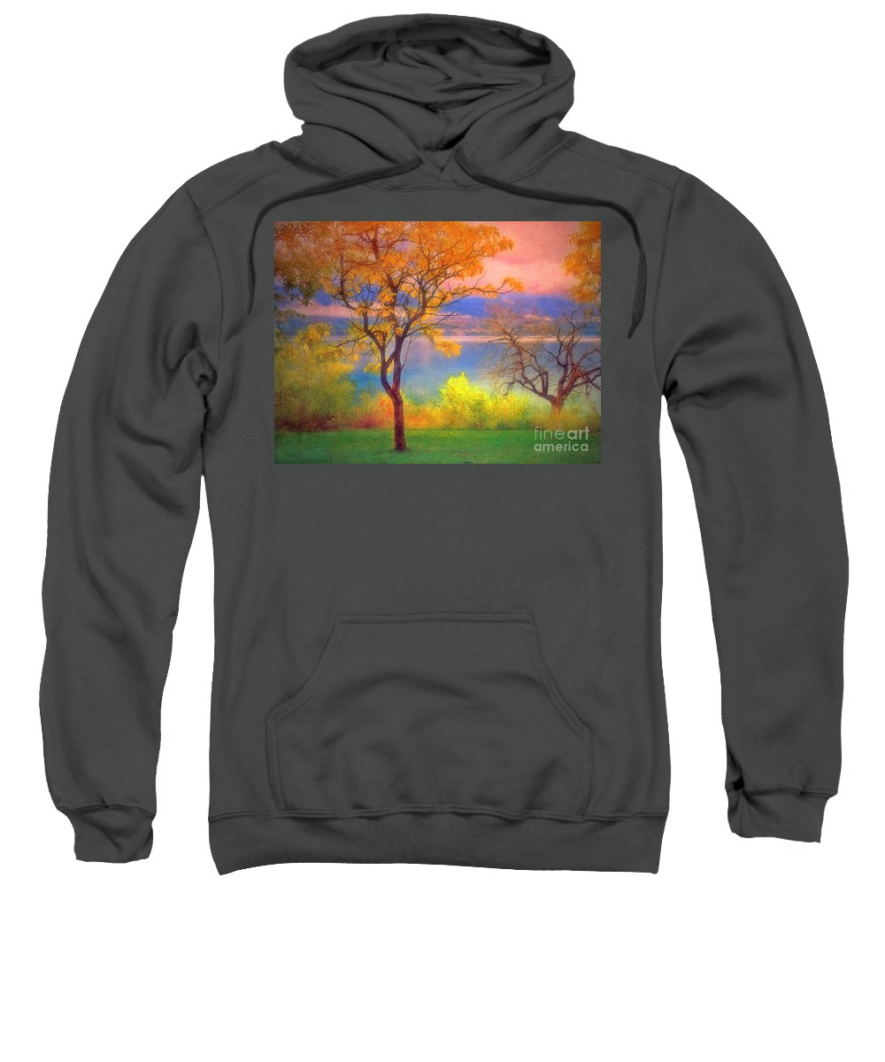 Lake Sweatshirt featuring the photograph Autum Morning by Tara Turner