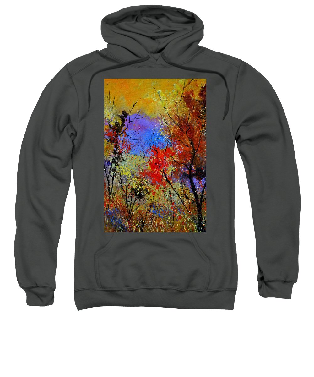 Landscape Sweatshirt featuring the painting Autumn 458963 by Pol Ledent