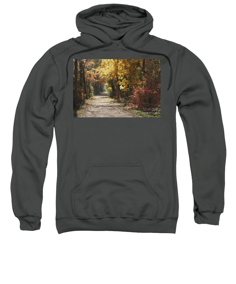 Autumn Sweatshirt featuring the photograph Autumn Dreams With Texture by Living Color Photography Lorraine Lynch