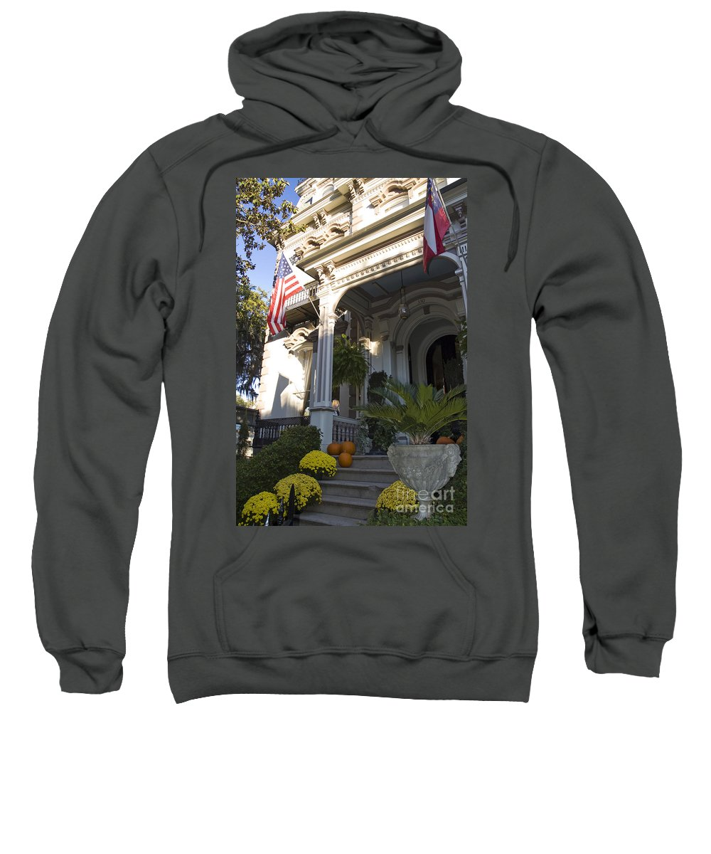 Savannah Ga Sweatshirt featuring the photograph Autumn Entry by Tim Mulina