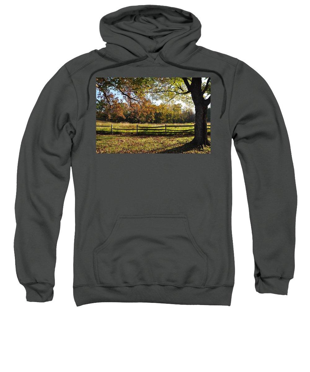 Autumn Sweatshirt featuring the photograph Autumn Field In Pennsylvania by Bill Cannon